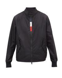 メンズ Moncler トリコロールジップアップ ウィンドブレーカージャケット Black