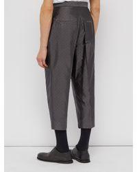Haider Ackermann Gray Polka Dot-jacquard Silk-blend Trousers for men