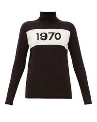 Bella Freud 1970 ウール タートルネックセーター Black