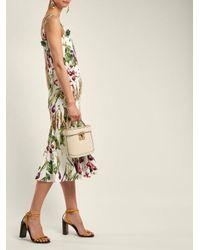 Dolce & Gabbana Green Vegetable-print Square-neck Dress
