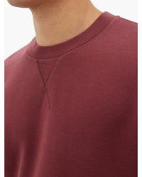 Sweat-shirt à col ras du cou en coton Sunspel pour homme en coloris Multicolor