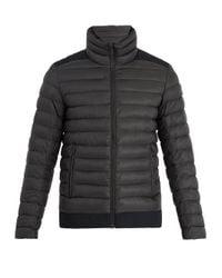 Fusalp Black Lucho High-neck Quilted Jacket for men