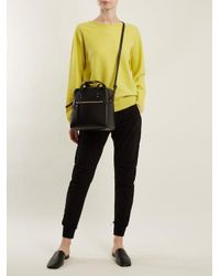 Vince Yellow Crew-neck Cashmere Sweater