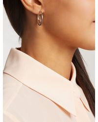 Noor Fares - Metallic Spiral Moon Rainbow Grey-gold Earrings - Lyst