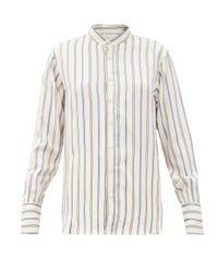 Wales Bonner Multicolor Gladstone Stripe-jacquard Twill Shirt