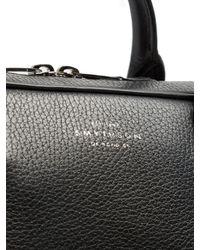 Smythson Black Burlington Leather Briefcase for men