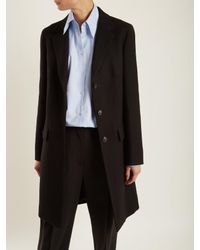 The Row Black Amutto Single-breasted Wool Coat