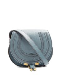 Chloé - Blue Marcie Small Leather Cross-body Bag - Lyst