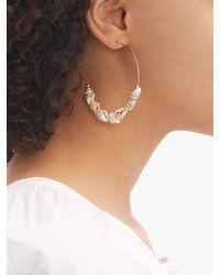 Elise Tsikis Metallic Megara Shell Gold-plated Hoop Earrings