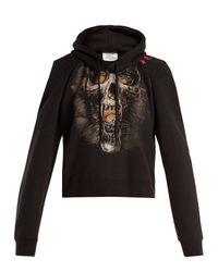 Vetements - Black Misplaced Shoulder Skull Print Sweatshirt - Lyst