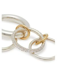 Spinelli Kilcollin - Metallic Luna Diamond, Gold & Sterling-silver Ring - Lyst