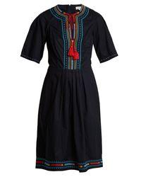 Robe en coton brodée Anita Talitha en coloris Black