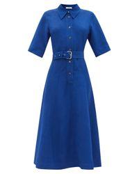 Co. ベルテッド キャンバスシャツドレス Blue