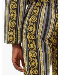 Pantalon de pyjama en coton à imprimé Baroque Versace pour homme en coloris Multicolor
