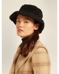Federica Moretti - Black Fleece Bucket Hat - Lyst