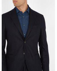 Boglioli - Blue Single-breasted Flannel-wool Suit for Men - Lyst