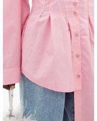 Natasha Zinko アシンメトリー コットンシャツ Pink