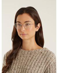 Garrett Leight Metallic Olive 51 Cat Eye Glasses