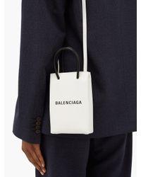 Balenciaga ショッピング レザー フォンフォルダーバッグ Multicolor