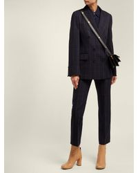 Stella McCartney Blue Double Breasted Checked Blazer