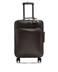 Bottega Veneta Brown Intrecciato Leather Cabin Suitcase for men