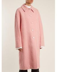 Marni - Pink Single-breasted Alpaca And Silk-blend Coat - Lyst