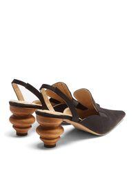 Escarpins à talon ouvert sculptural Rasin Rosie Assoulin en coloris Black