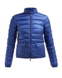 Veste matelassée en duvet Lans Moncler en coloris Blue