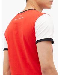 メンズ Paco Rabanne X Peter Saville コットンtシャツ Red