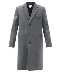 メンズ Bottega Veneta ウール シングルコート Gray