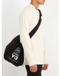 Y-3 Black Logo-print Neoprene Gym Bag for men