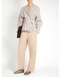 Isabel Marant - Pink Nyoka Wide-leg Linen-blend Trousers - Lyst