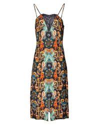 Matthew Williamson | Regal Monkey Black Lace Slip Dress | Lyst