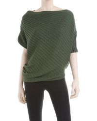 Leon Max | Green Twisted Ribbed Sweater | Lyst