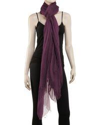 Leon Max - Purple Gossamer Weight Cashmere Shawl - Lyst