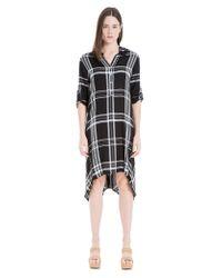 Leon Max - Black Plaid Shirt Dress - Lyst