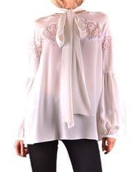 Givenchy White SEIDE BLUSE