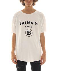 Balmain BAUMWOLLE T-SHIRT in White für Herren