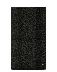 Saint Laurent Black Acrylic Scarf