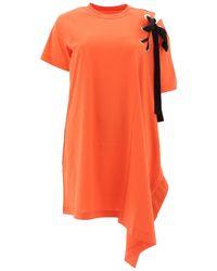 Sacai Orange Cotton Dress