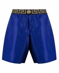 Versace Blue Polyester Trunks for men