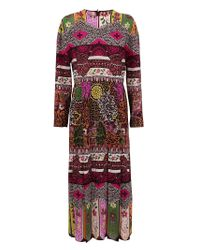 Valentino Red MULTICOLOR POLYESTER KLEID