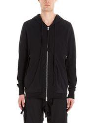 Thom Krom Black Msj388 Cotton Sweatshirt for men