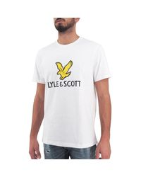 Lyle & Scott WEISS T-SHIRT in White für Herren