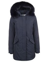 Woolrich Blue Polyester Coat
