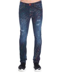 Philipp Plein Blue Cotton Jeans for men