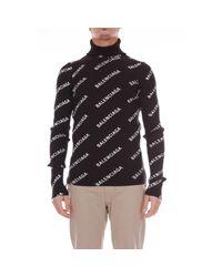 Balenciaga Black Synthetic Fibers Sweater for men