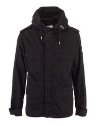Saint Laurent Black Cotton Coat for men