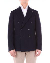 Tagliatore Blue Wool Blazer for men