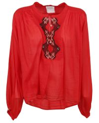 Forte Forte Red ROT BAUMWOLLE BLUSE